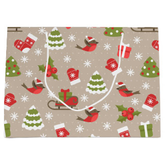 Christmas images large gift bag