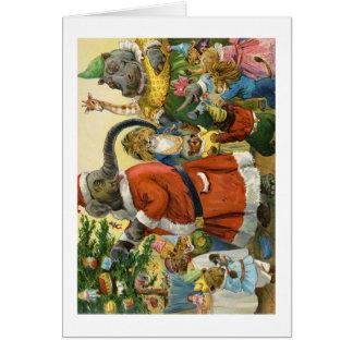 Christmas In Animal Land Greeting Card