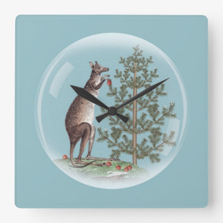 Christmas in Australia Square Wall Clock