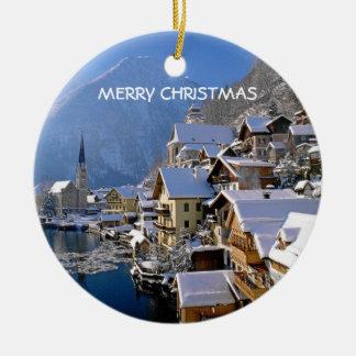 CHRISTMAS IN AUSTRIA CERAMIC ORNAMENT