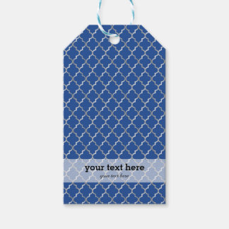 Christmas in blue & silver pack of gift tags