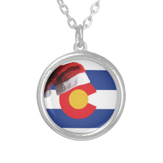 Christmas in Colorado Silver Plated Necklace