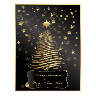 Christmas in Gold Postcard