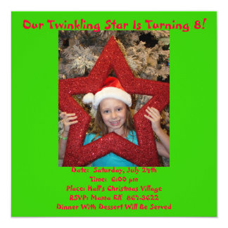 Christmas In July Birthday Theme Card