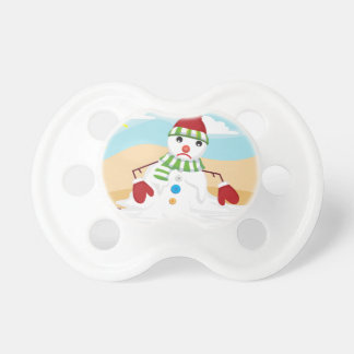 christmas in july snowman baby pacifier