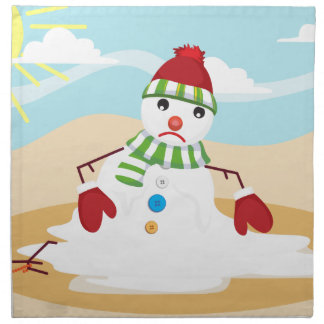 christmas in july snowman napkin