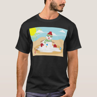 christmas in july snowman T-Shirt