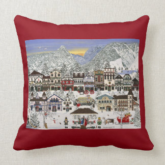 """Christmas"" in Leavenworth, Washington Throw Pillow"