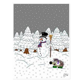 Christmas in Magic Tree Wood Postcard