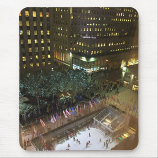 Christmas in NYC Rockefeller Center Ice Rink Mouse Pad