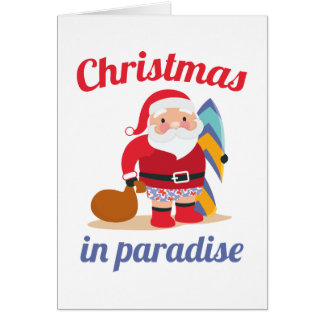 Christmas In Paradise Card
