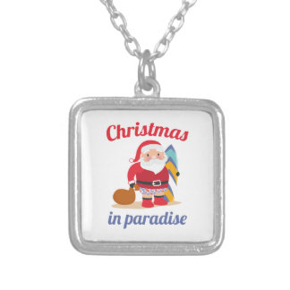 Christmas In Paradise Silver Plated Necklace