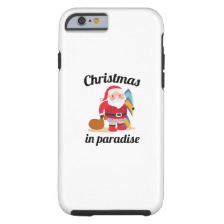 Christmas In Paradise Tough iPhone 6 Case