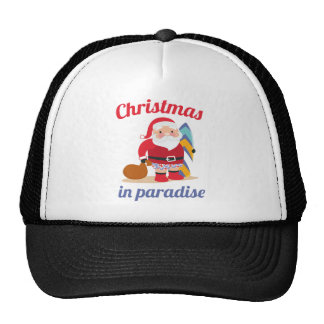 Christmas In Paradise Trucker Hat