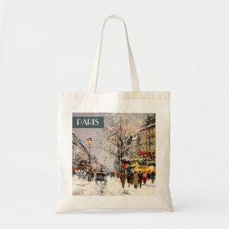 Christmas in Paris. Christmas Gift  Bag