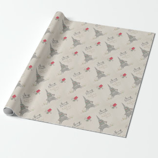Christmas in Paris Wrapping Paper