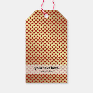 Christmas in red & gold pack of gift tags