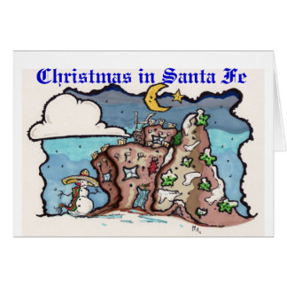 Christmas in Santa fe Card