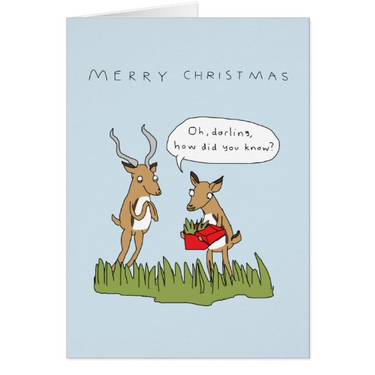 Christmas in the Bush | Funny Safari Card