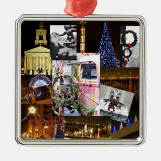 Christmas in the City-Knoxville, Tennessee Metal Ornament