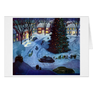 Christmas in the Town Square Card