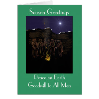 Christmas in the trenches card