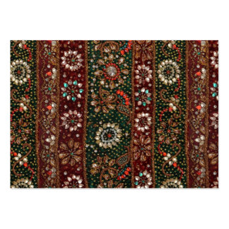 Christmas India Indian Textile Embroidery Bling Large Business Card