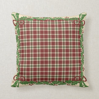 Christmas Inn-Christmas Pillows Holly Plaid