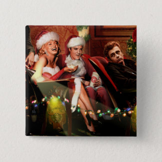 Christmas Interlude 2 Inch Square Button