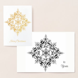Christmas Intricate Gold Filigree Scroll Foil Card