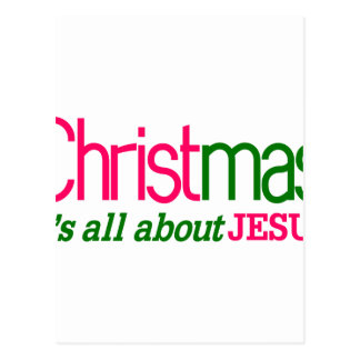 Christmas Is About Jesus Postcard