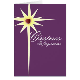Christmas is Forgiveness-customize - Customized Card
