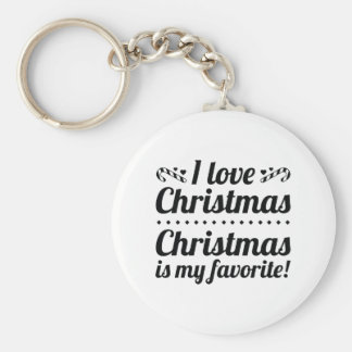 Christmas Is My Favorite Keychain