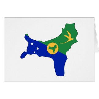 Christmas Island flag map Card