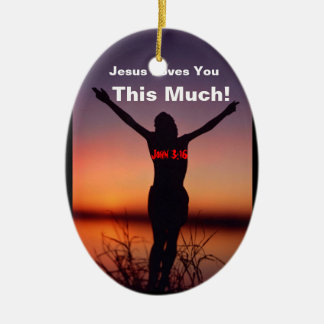 Christmas Jesus Ceramic Ornament