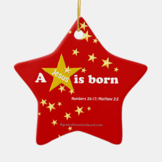 Christmas Jesus Ceramic Star Ornament