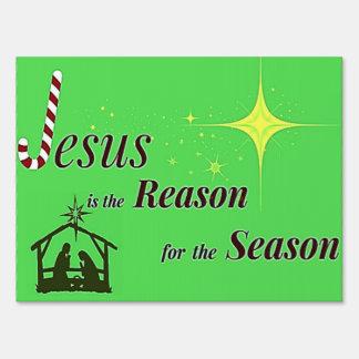 Christmas Jesus Reason for Season Sign
