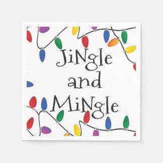 Christmas Jingle Lights Cocktail Party Napkins Paper Napkins