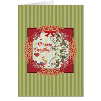 Christmas Joy Bird Card