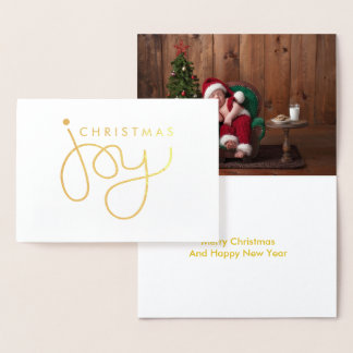 Christmas Joy Hand Lettered Holiday Card