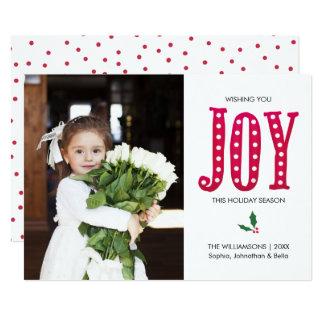 Christmas Joy Hand-lettered Holiday Photo Card