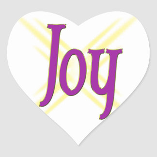 Christmas Joy Heart Sticker