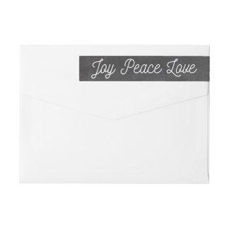 Christmas Joy Peace Love Custom Chalkboard Wraparound Return Address Label