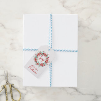 Christmas Joy Snowflake Wreath Gift Tags