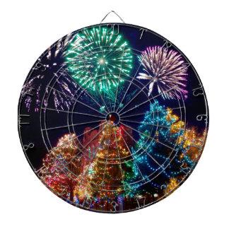 christmas joy time dartboard
