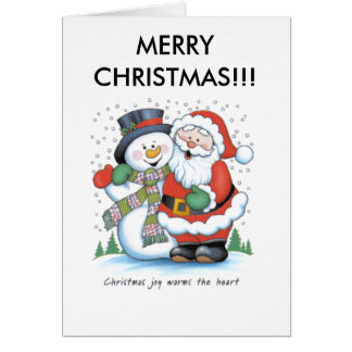 christmas_joy_warms_the_heart_santa_claus_frost... card