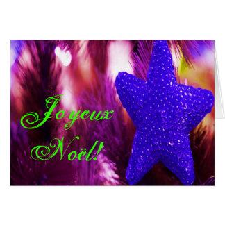 Christmas Joyeux Noel Blue Christmas Star I Cards