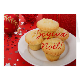 Christmas Joyeux Noel Greeting Card