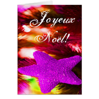 Christmas Joyeux Noel Purple Christmas Star  II Cards