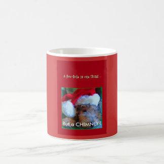 Christmas--Jubel in Santa Hat--A FOXHOLE IS ONE... Coffee Mug